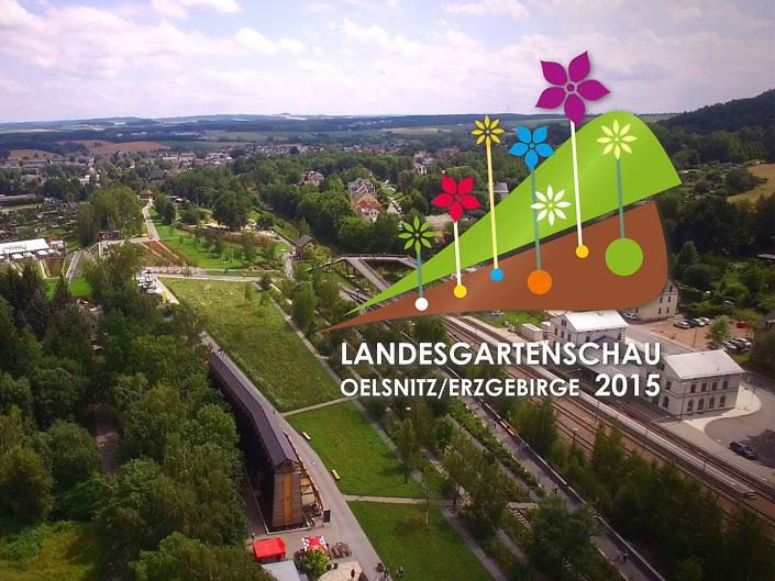 Luftaufnahmen TV-Sponsoring für die Landesgartenschau
