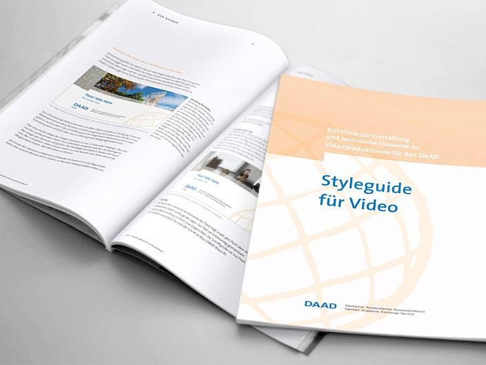 """Entwicklung und Umsetzung """"Styleguide für Video"""" für den Deutschen Akademischen Austauschdienst (DAAD)"""